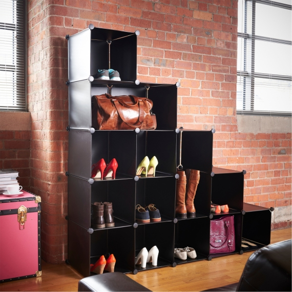 executive-black-gloss-finish-plastic-stacking-cube-storage-ideas-with-stylish-multilevel-stairs-organizer-open-shelves-1120x1120