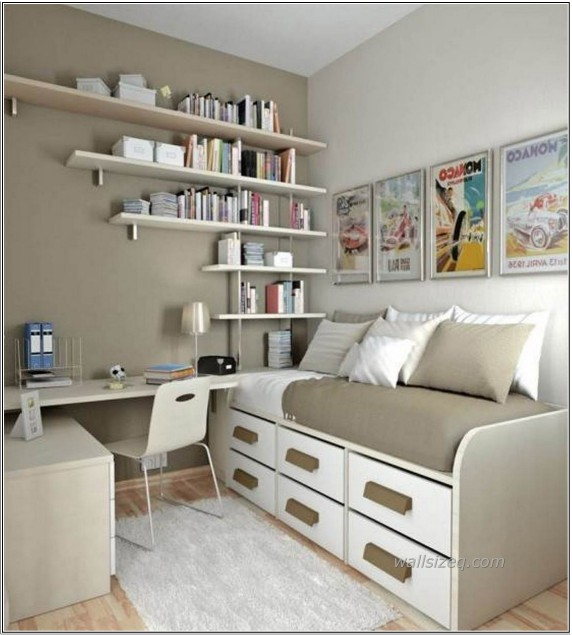 Light-Grey-Ideas-For-Small-Bedrooms-With-Stacking-Rack-Decorating-Design-And-Decorating-Ideas-For-Small-Bedroom