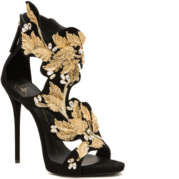 Giuseppe-Zanotti-gold-leather-sandal-embellished-Fall-20141