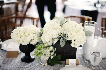 white-hydrangea-wedding-centerpiece