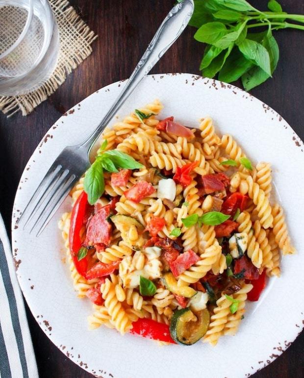 Chorizo-Roasted-Veggie-Pasta